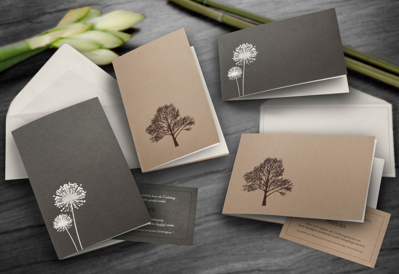 Produktfotografie Trauerkarten