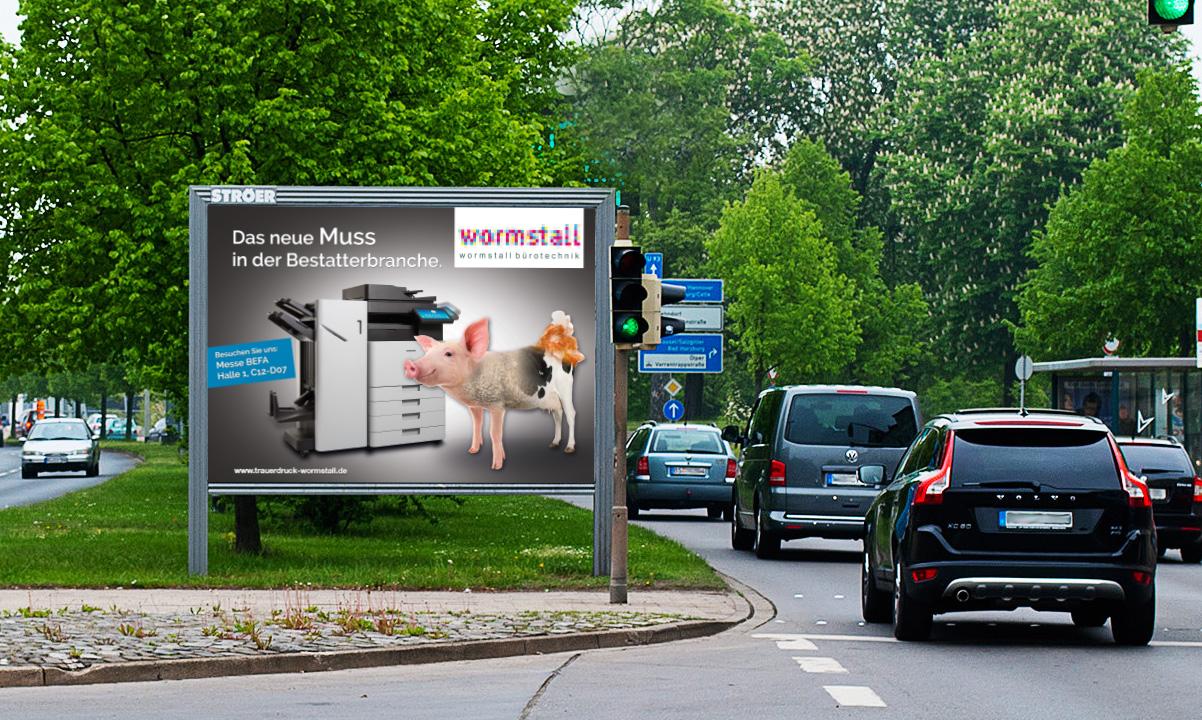Plakatdesign Wormstall
