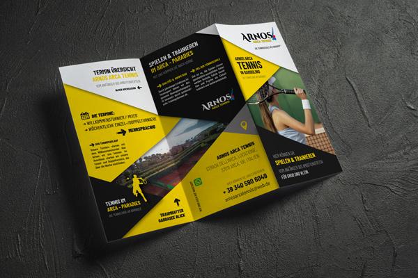 Flyerdesign Arnos Arca Tennis Foto & Design Wormstall