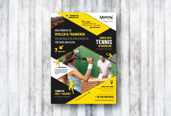Plakatdesign Arnos Arca Tennis