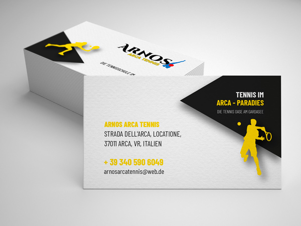 Arnos Arca Tennis Visitenkarten Foto & Design Wormstall