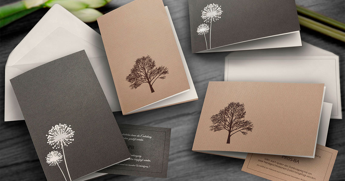 Produktfotografie Trauerkarten Julia Wormstall