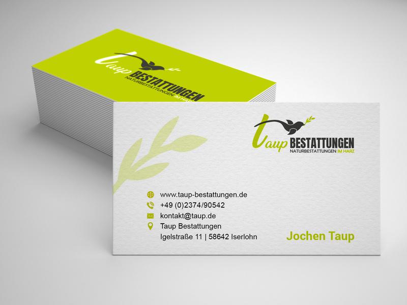 Visitenkarten Design Taup Bestattungen